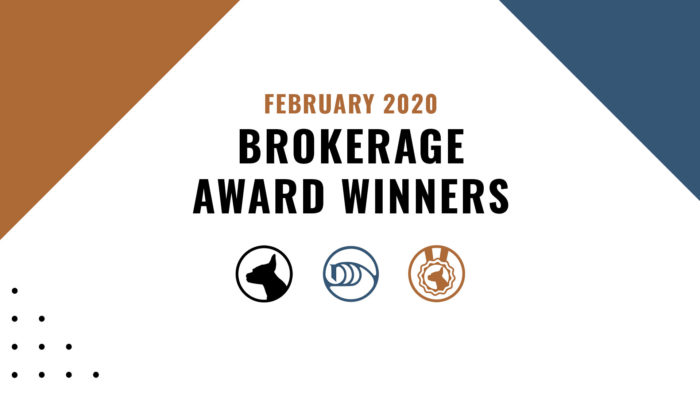 Brokerage Award Winners - February 2020