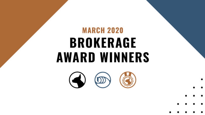 Brokerage Award Winners - March 2020