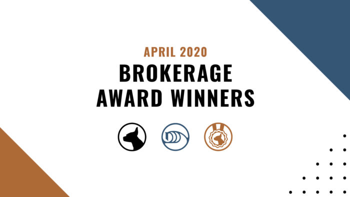 Brokerage Award Winners - April 2020