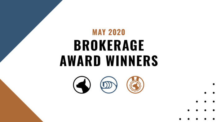 Brokerage Award Winners - May 2020