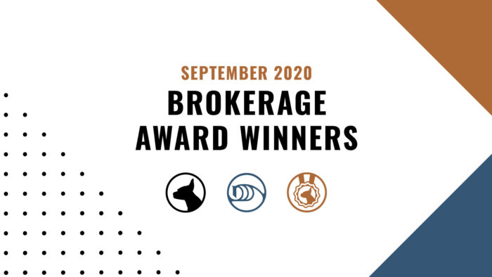 Brokerage Award Winners - September 2020